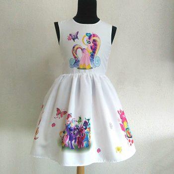 """официална рокля """"Пони Еднорог"""" с опашка"""