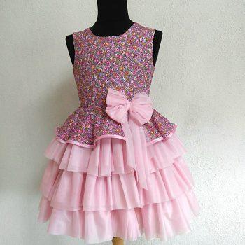 """Детска рокля """"Розова магия"""""""