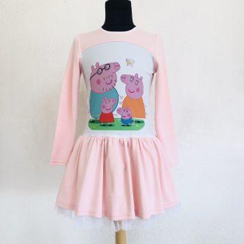 """Детска рокля """"Пепа Пиг"""" с дълъг ръкав"""