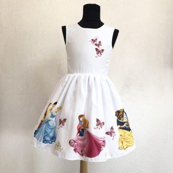 """Детска официална рокля """"Принцеси"""" с шлейф"""
